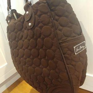 Large VERA BRADLEY Chocolate Brown Quilted Handbag